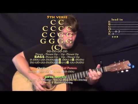 Cocaine Blues (Johnny Cash) Guitar Lesson Chord Chart - Capo 1st