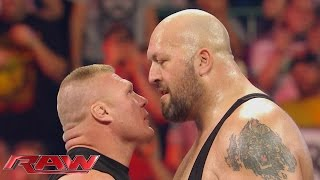 Relive the bone-crunching rivalry between Brock Lesnar and Big Show: Raw, Sept. 28, 2015 thumbnail