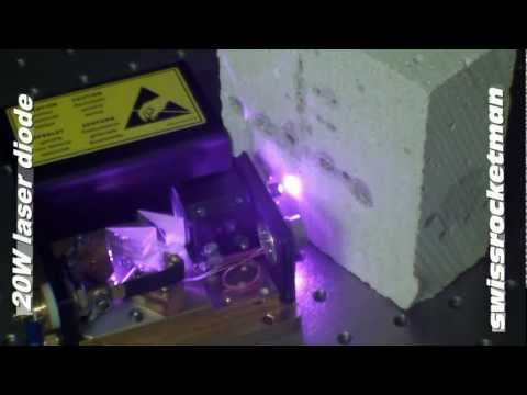 20W laser diode at 808 nm.mp4