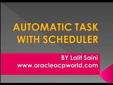 Automatic Task with Scheduler running jobs