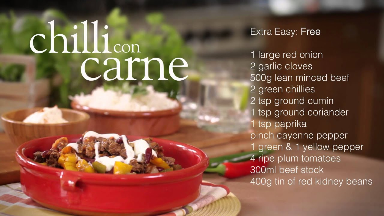 Slimming World Chilli Con Carne Recipe Youtube
