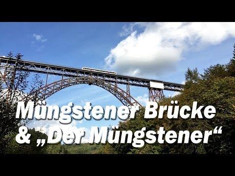 Eisenbahn Romantik im Bergischen Land: Müngstener Brücke - höchste Eisenbahnbrücke Deutschlands