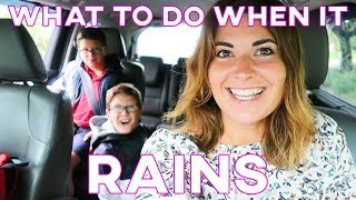 WHAT DOES MOM DO WHEN DAD IS OUT OF TOWN | PUDDLE JUMPING IN THE RAIN