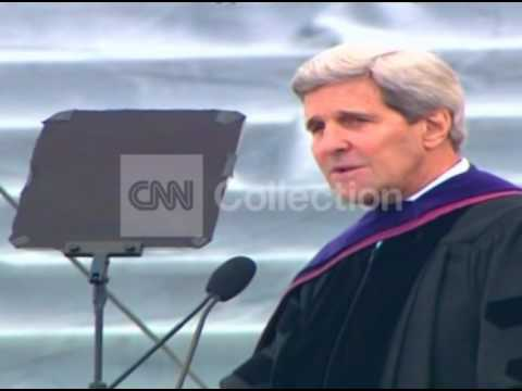 MA:KERRY COMMENCEMENT SPEECH - KILLING OVER WATER