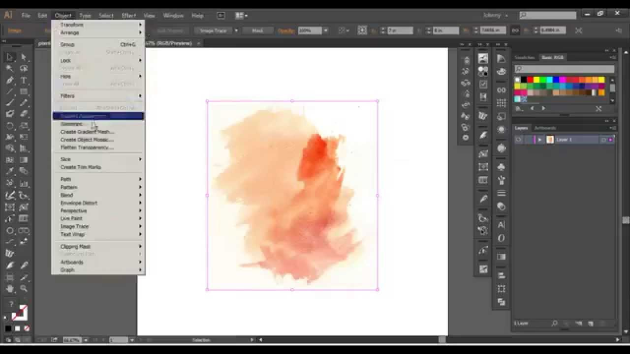 Adobe Illustrator - Advanced Watercolor Vector