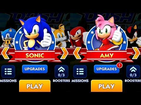 Sonic Dash SONIC VS AMY Android IPad IOS Gameplay
