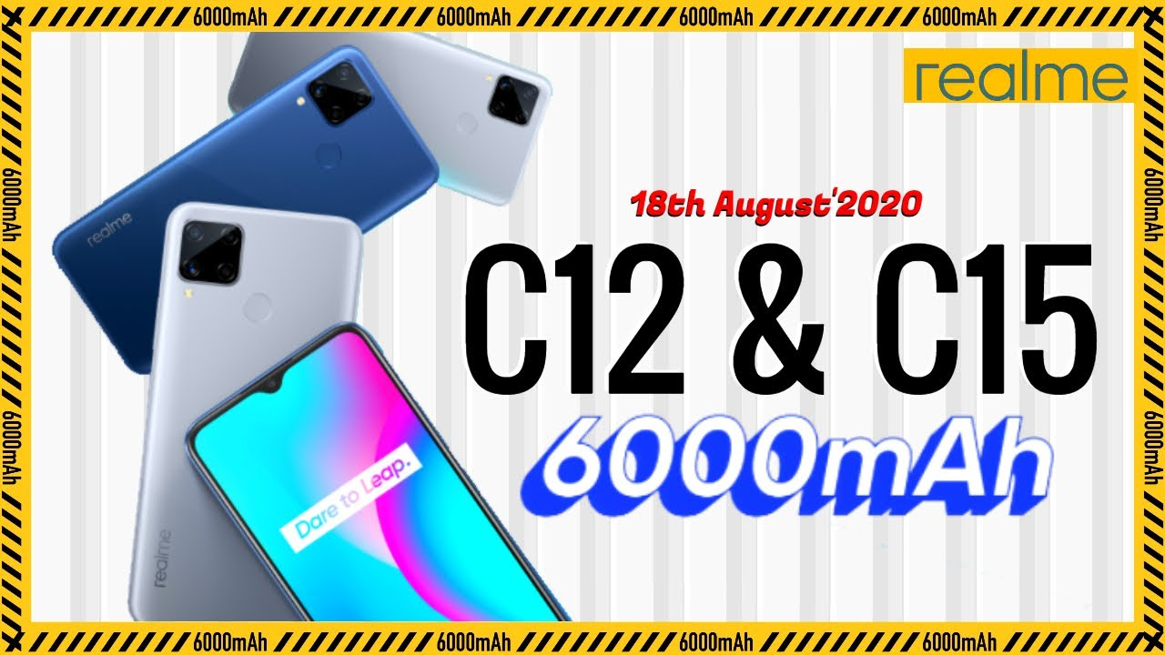 Realme C12 and Realme C15 Launching on 18th August | Sneak Peek | Data Dock