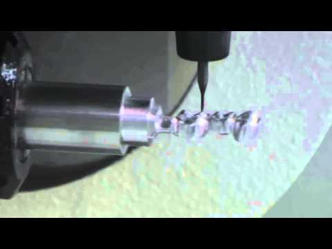 WorkNC Dental - 5-Axis milling of a 3 element bridge in the Bar process