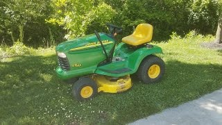 Mowing and an Update on the John Deere LT155