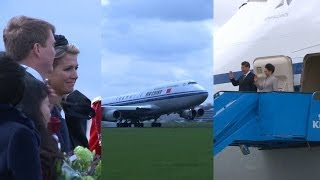 The Chinese President Xi Jinping arrived at Schiphol