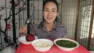 Ăn canh rau đay . nấu canh rau đay với tôm ngon tuyệt.
