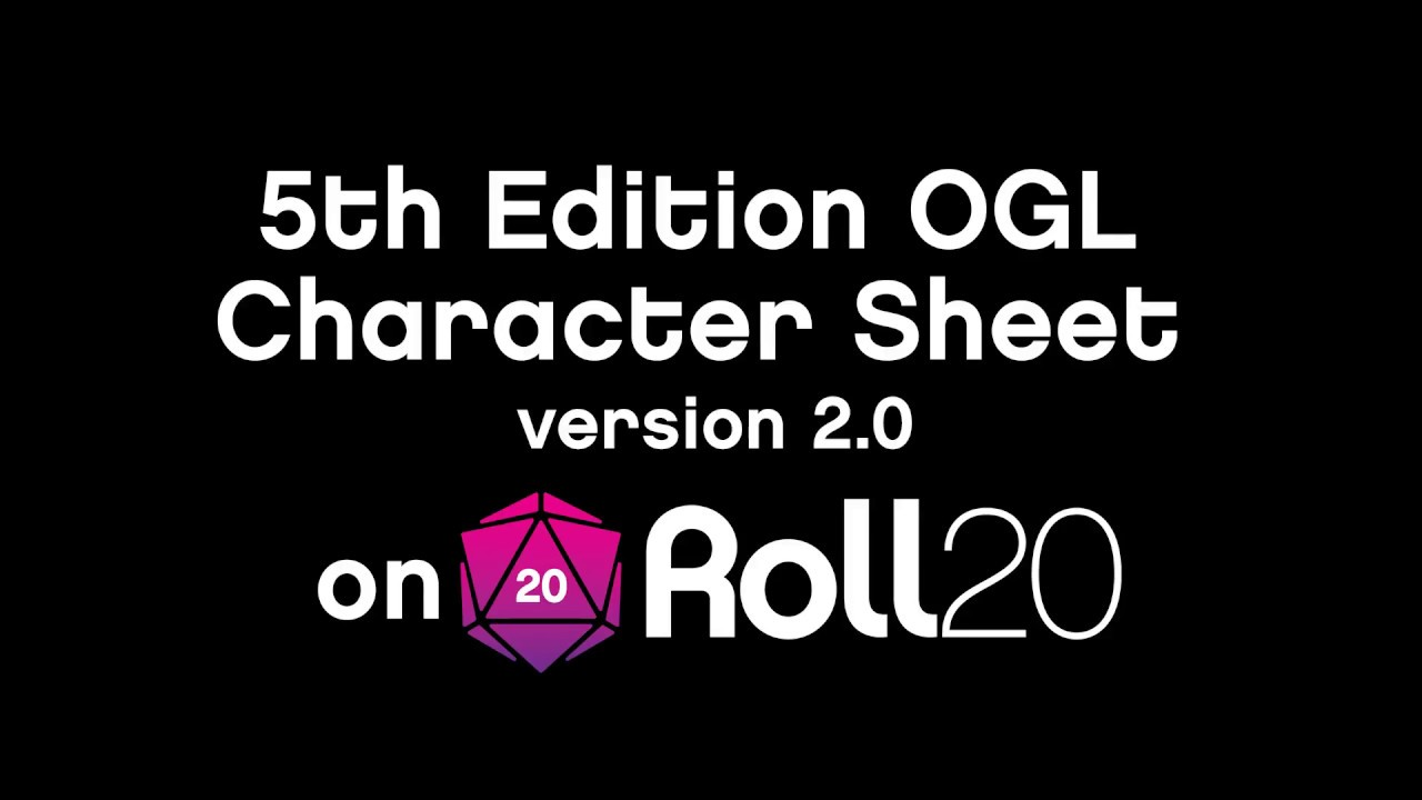 Roll20 D&D 5E Official Character Sheet: Features and Functions