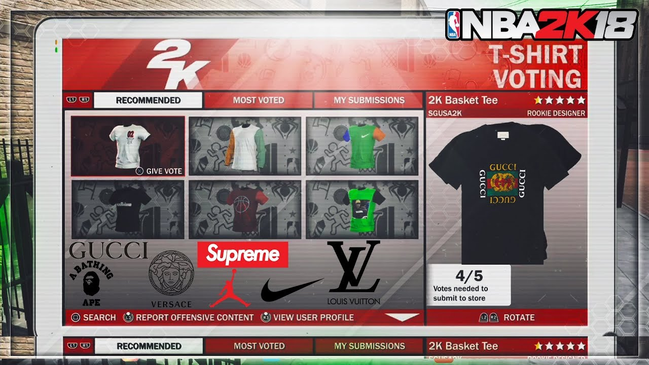 3dd131df79d NBA 2k18 - CREATE YOUR OWN DESIGNER T-SHIRTS