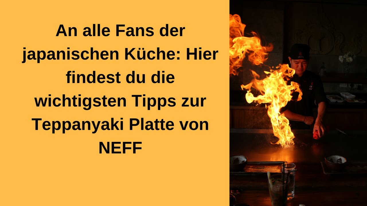 Teppanyakiplatte Neff Youtube
