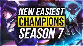 new easiest champions for season 7 all roles league of legends