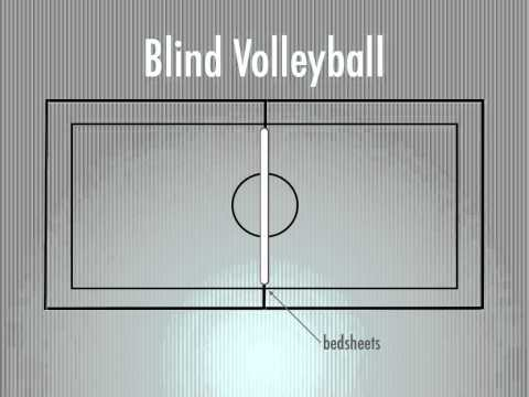 Physical Education Games - Blind Volleyball