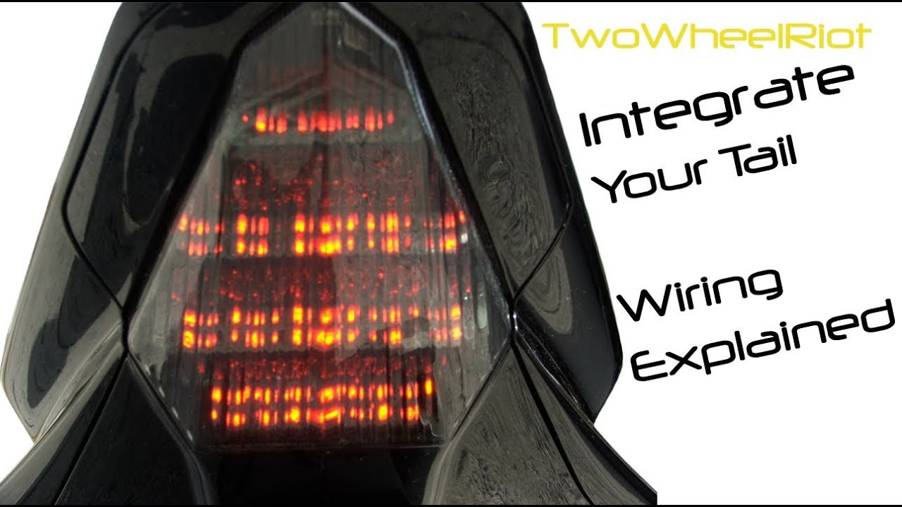 yamaha r6 integrated tail light wiring explained - youtube  youtube