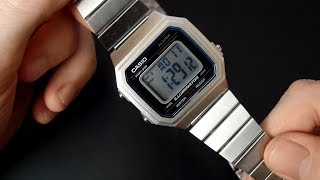Casio B650WD how to set time and date and review