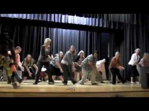 Teachers Perform African Dance at Carroll County Middle School