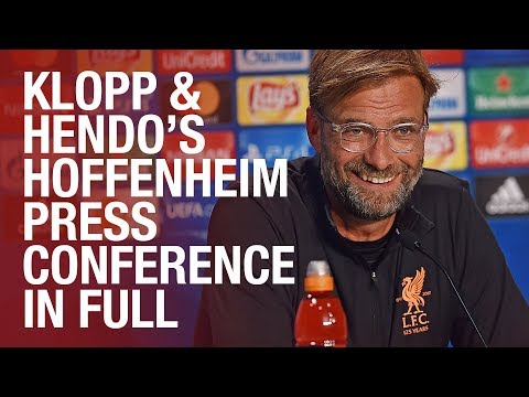 Klopp & Henderson | Pre Hoffenheim Champions League press conference