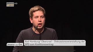 Kevin Kühnert und Thorsten Schäfer-Gümbel zur Großen Koalition am 18.02.18