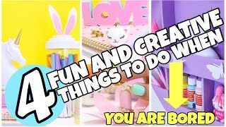 4 EASY and FUN Things to do When you are Bored Using stuff you already have.
