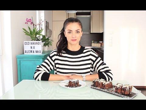 Bolo Brownie 2 Chocolates | Cozinhando na Alemanha | Batatolandia