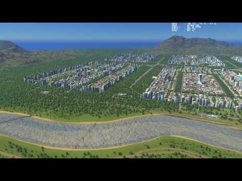 Highly efficient modular city on Cities Skyline. 330k population.