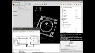 LinuxCNC Features урок №1 Создание шаблона крепежа двигателя