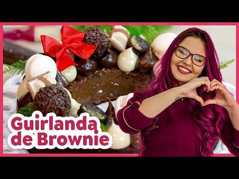 Receita: Guirlanda de Brownie - Semana da Renda Extra de NATAL