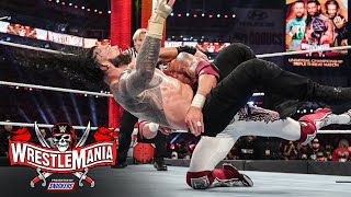 Edge Spears Roman Reigns in huge title clash: WrestleMania 37 – Night 2 (WWE Network Exclusive)
