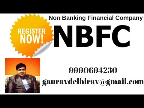 How to Register Non Banking Financial Company in India