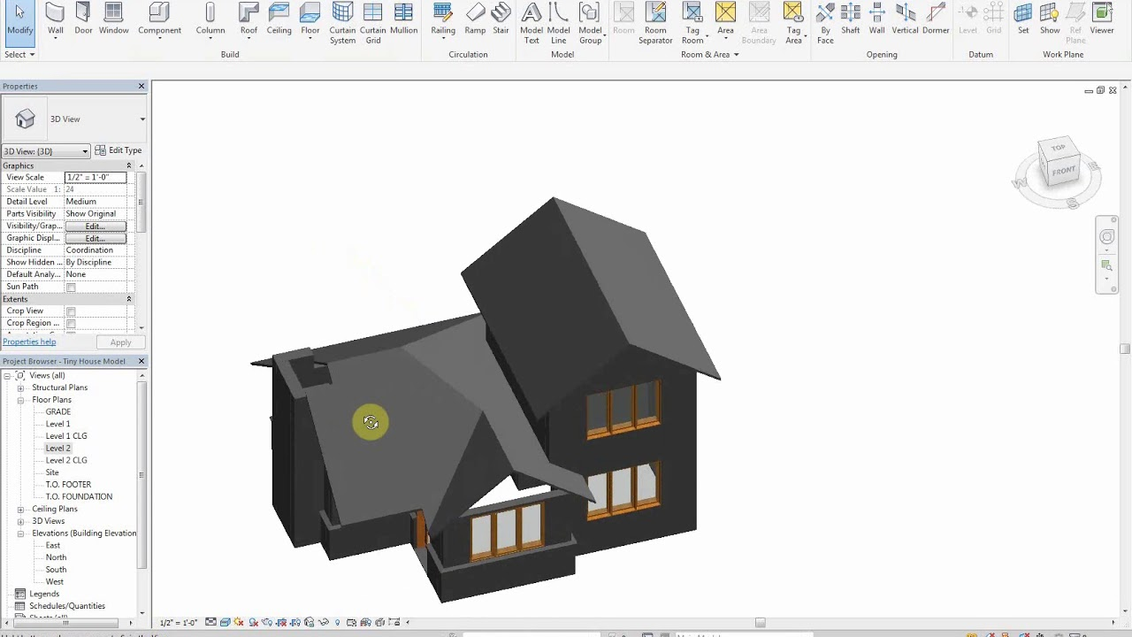 Revit 2018 - House Tutorial - Part III - Roofs and Ceilings