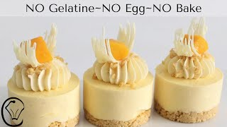 Mini Mango Cheesecakes NO Gelatine NO Egg NO Bake Make Ahead Mini Desserts MUST TRY!
