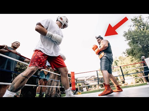 BOXING A MMA FIGHTER WHO SHOWED UP AT MY HOUSE