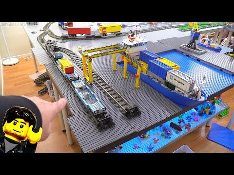 LEGO City update: Cargo ship harbor work begins!
