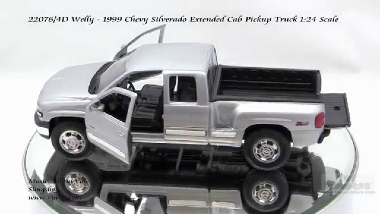 22076 4d Welly 1999 Chevy Silverado Extended Cab Pickup Truck 124 Scale Diecast Wholesale