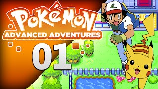 Pokemon Advanced Adventure Part 1 - New Adventure Begins! (Pokemon Rom Hack Walkthrough)