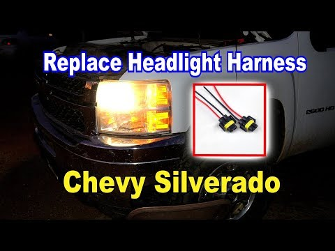 🛠️ How to Replace the Headlight harness plug on Chevy Silverado 💡 -  YouTubeYouTube