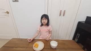 오렌지, 탄산수 먹방  노편집