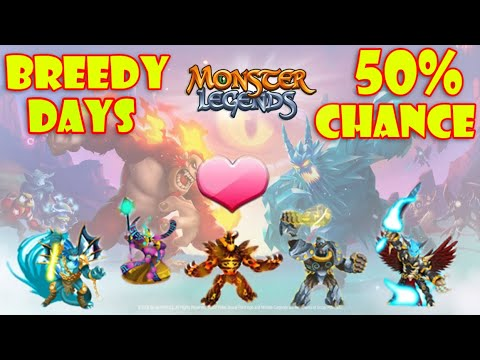 Download Monster Legends | New Breedy Days Breeding Event Gameplay! | Trying to Breed Legendary Monsters