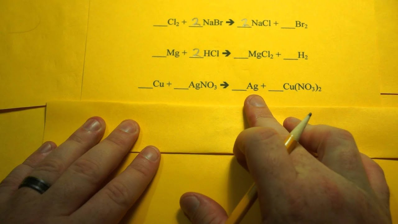 Balancing Chemical Equations (Single Replacement Reactions) - YouTube