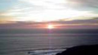 켈리포니아 태평양 바닷가의 선셋 - SUNSET Pacific Coast Highway(The Big Sur Coast Highway) near Big Sur