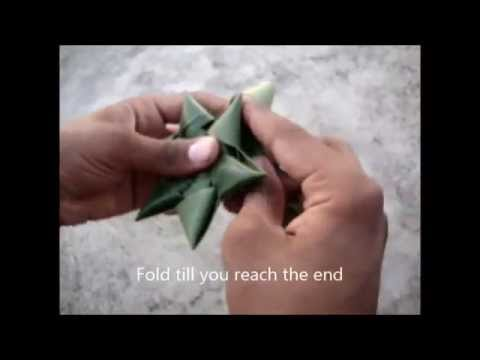 How To Make Coconut Leaf Star Youtube