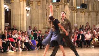 Zakirova- Savinov Couple 8 Final Latin Show Dance 2015 WDSF Vienna Dance Concourse