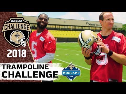 Trampoline Challenge | 2018 QB Challenge | Mini Camp Edition