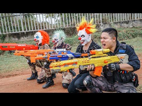 LTT Films : Special Mission Seal XXx Nerf Guns Fight Criminal Group Tiger Mask Bandits Nerf War
