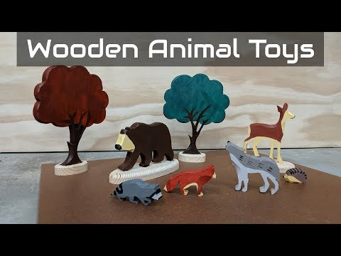 Handmade Wooden Animal Toys