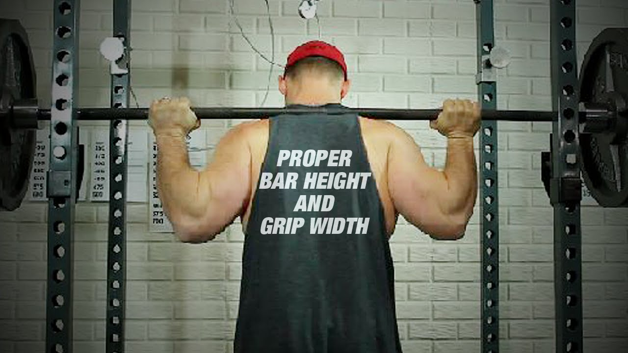 Proper Bar Position and Grip Width for Squats - YouTube