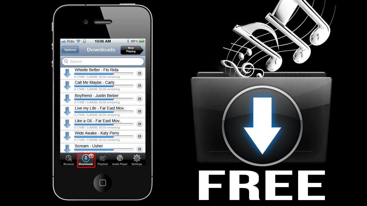 how to download free music to your iphone how to free on iphone 5 4s 4 3gs 9191